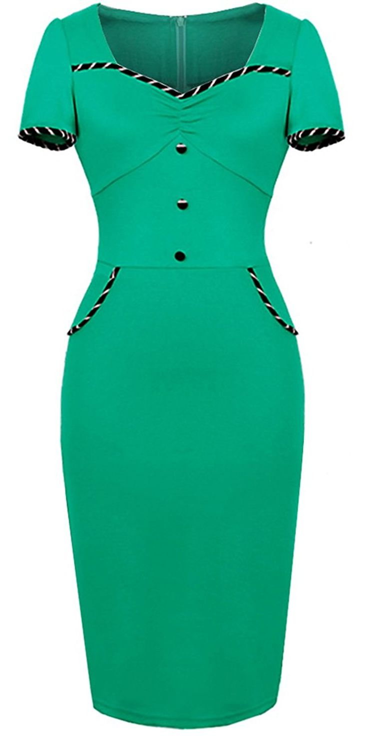 HOMEYEE Women's Vintage Sheath Wiggle Dress U729 * Read more at the image link. (This is an affiliate link and I receive a commission for the sales)