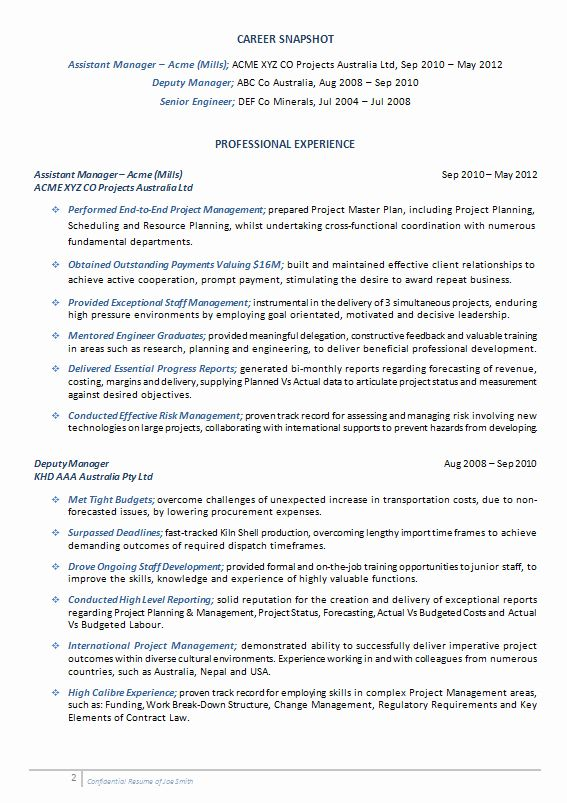 Engineering Project Manager Resume Unique Cv Resume Samples Job Resume Samples Resume Writing Services Project Manager Resume