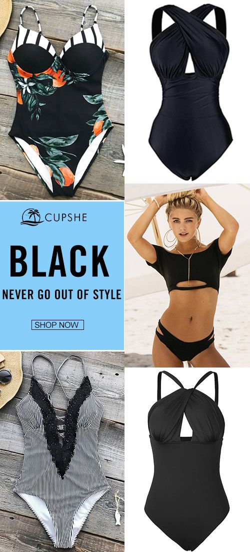 Summer bikinis now come in elegant black color! Keep it cool and make it classic, you will always find a sense of safety and calmness in those pieces. Click for your loved ones. :)