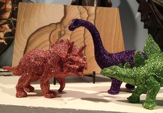 Glitter dinosaurs! Make them in any color!: Dorm Room, Color, Glitter Dinosaurs, Diy Projects
