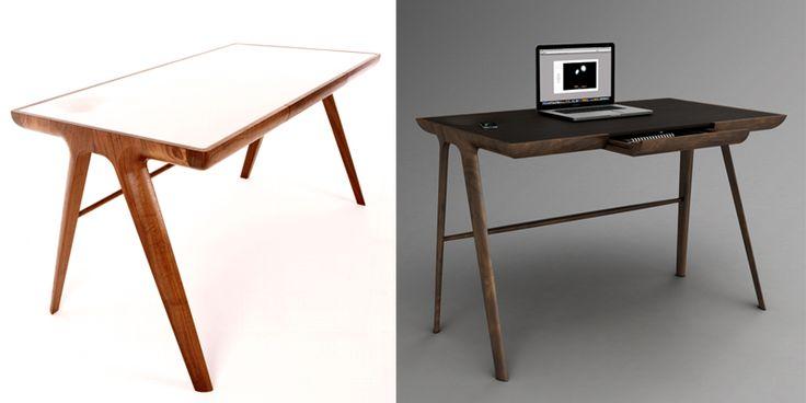 10 escritorios ideales de diseño para tu casa o estudio