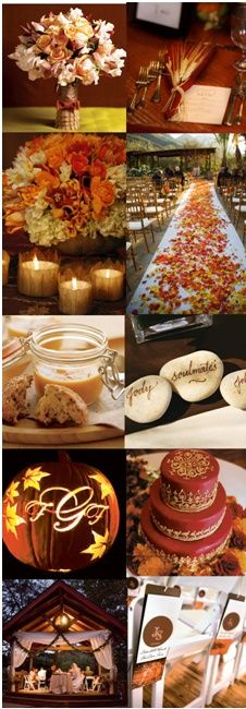 Fall wedding board, the colors are amazing. My dream.