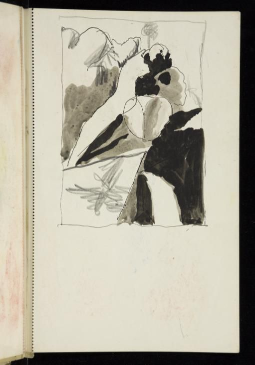 Graham Sutherland OM 'Sketch of a steep hillside with what may be a road', [c.1944–9] © The estate of Graham Sutherland