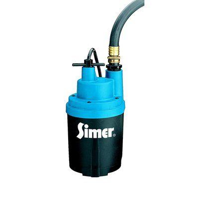 Simer Smart Geyser™ 1/4 HP Submersible Utility Pump
