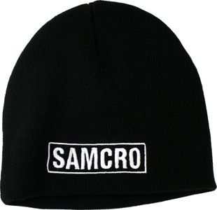 """TUQUE """"SAMCRO"""" NOIRE """"SAMCRO"""" BEANIE BLACK VÊTEMENTS"""