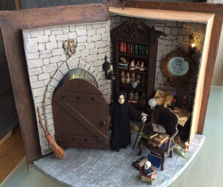 Wizard's room inside spell book