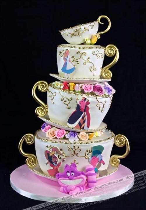 Alice in Wonderland Tea Party Cake!