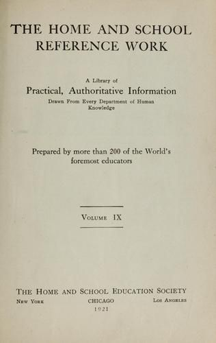 Cover of: The Home and school reference work by Rocheleau, William Francis,