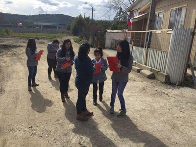 Carrera de Trabajo Social de INACAP Concepción-Talcahuano realiza intervención en sector de Palomares