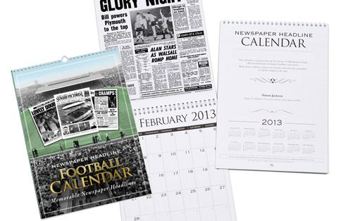 I Just Love It Personalised Plymouth Argyle Football Calendar Personalised Plymouth Argyle Football Calendar - Gift Details. These Football Calendars are a unique Calendar gift idea for a football fan. On each month of the Calendar we feature a newspaper report  http://www.MightGet.com/january-2017-11/i-just-love-it-personalised-plymouth-argyle-football-calendar.asp