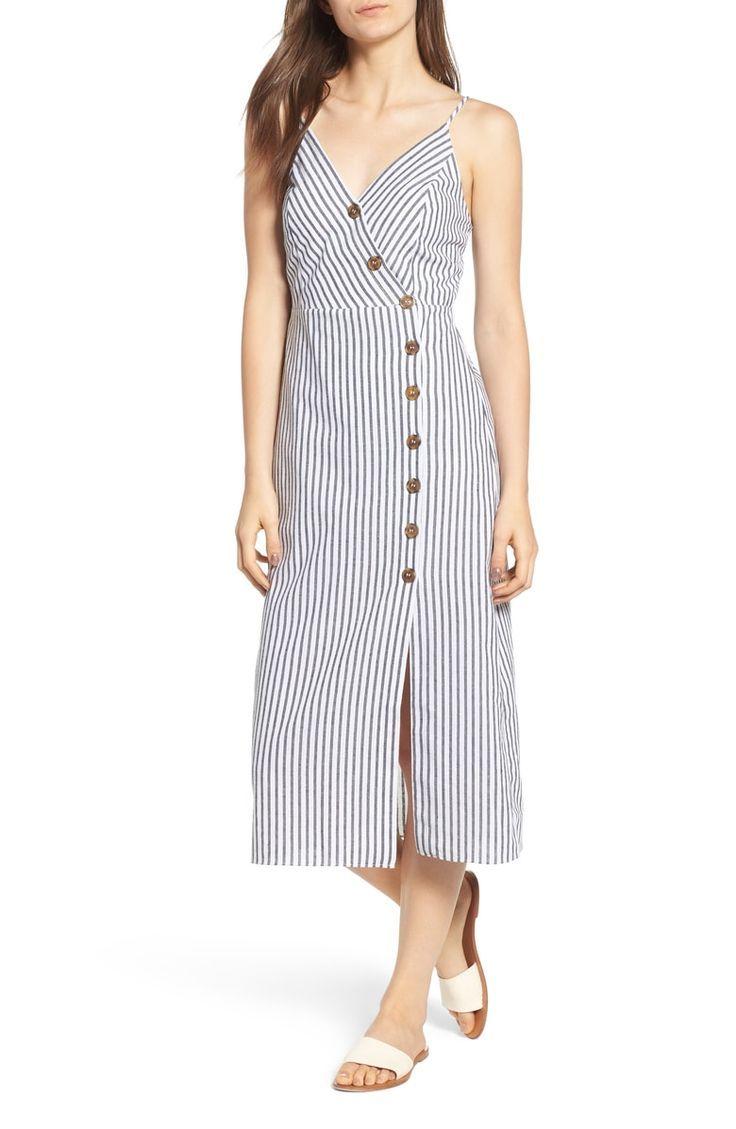 Soprano Stripe Midi Dress Nordstrom Striped Midi Dress Dresses Midi Dress [ 1129 x 736 Pixel ]