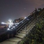 Light Goes On: A New Light Painting Stop Motion Video About a Skateboarding Skeleton by Darren Pearson