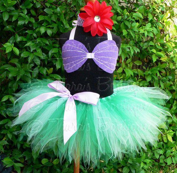 Little Mermaid Tutu Custom Sewn 8 Infant Toddler by TutuTiara
