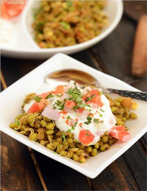 Healthy Moong Chaat recipe   by Tarla Dalal   Tarladalal.com   #36411