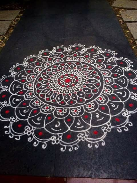 82 best images about rangoli designs on pinterest for Floor rangoli design