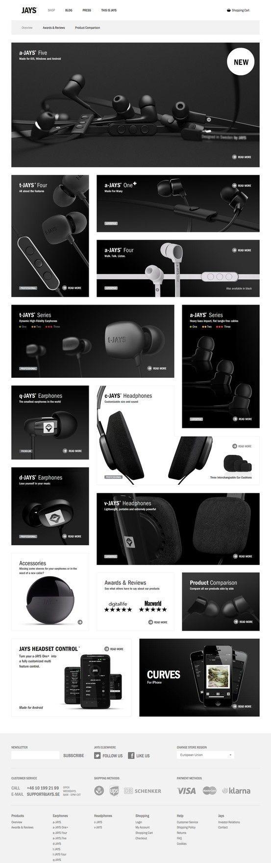 Jays Shop | #webdesign #it #web #design #layout #userinterface #website #webdesign < repinned by www.BlickeDeeler.de | Take a look at www.WebsiteDesign-Hamburg.de