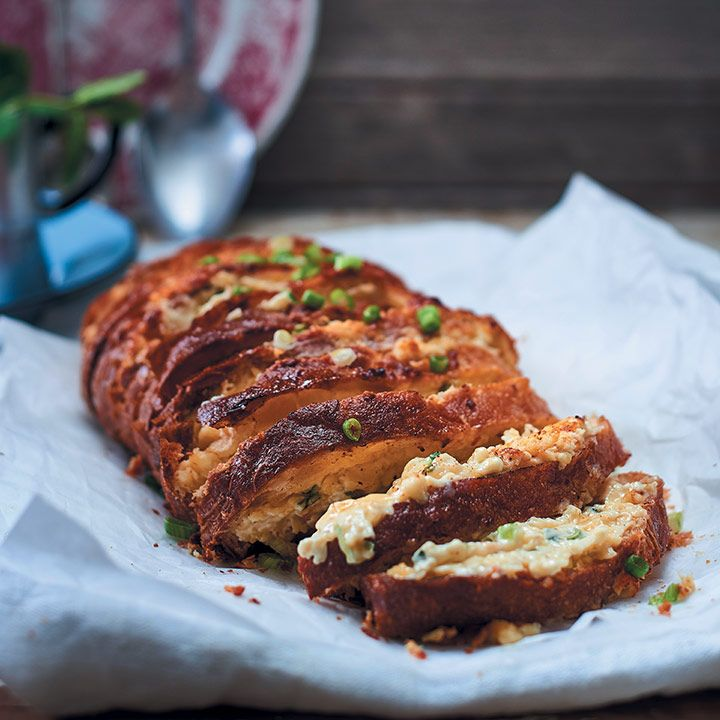 This is perfect for feeding a crowd at your next braai, where you can serve it as a side dish, instead of garlic bread Recipe and styling by Claire Ferrandi Photograph by Dylan Swart Related Posts:Chocolate croissant bread and butter pudding with…Whole roasted tomatoes stuffed with pecan nuts and…Cloud breadPigs in blankets