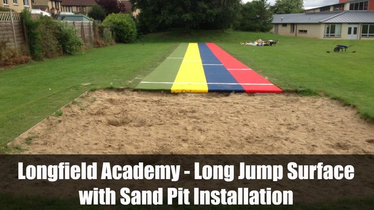 Longfield Academy - Long Jump Surface with Sand Pit Installation