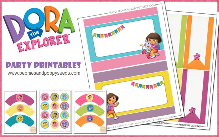 Dora the Explorer Party Printables | Peonies and Poppyseeds
