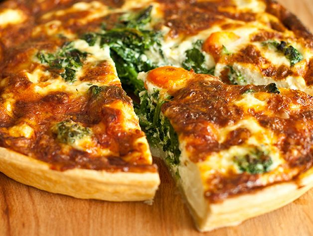 Silky Swiss and Kale Quiche