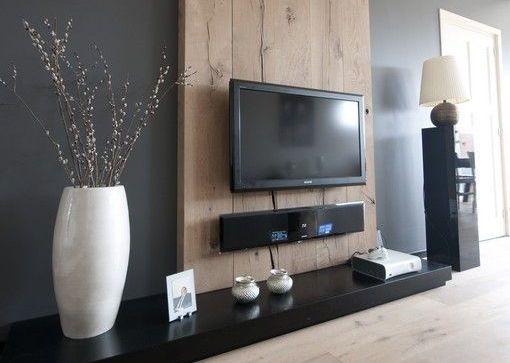 Televisie aan de muur
