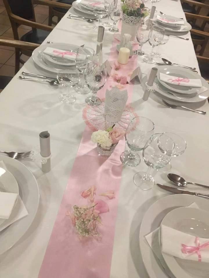 Romantic wedding decoration.  #pink #lace #vintage
