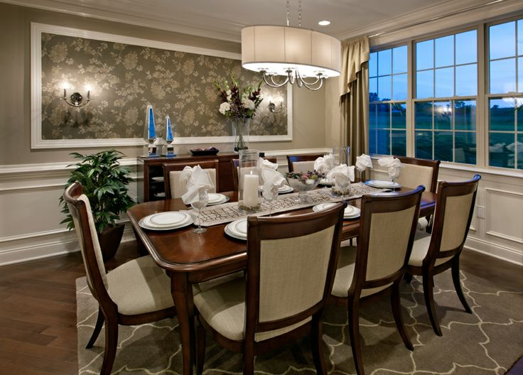 Toll brothers formal dining room for entertaining for Property brothers dining room designs