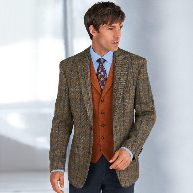 This men's tweed jacket is casual, yet sporty. Details Our ever-popular Weatherbreaker™, a jacket style that rivals the WWII bomber with its sporty profile and casual style, attains a higher level of sophistication with pure wool tweed.
