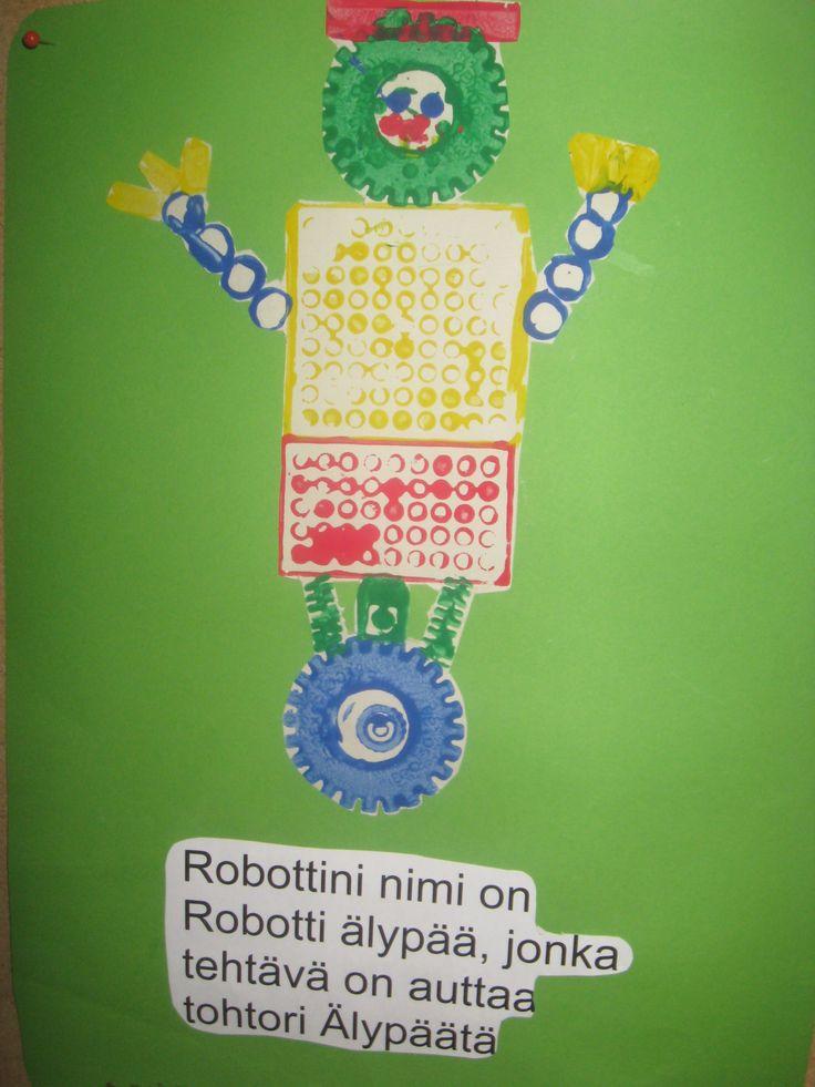 Robotti, painantavälineenä legopalikat