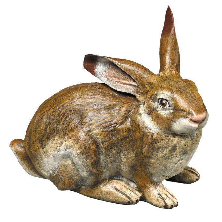 """FPOБольшой бронзовый Кролик Handmade цифра индивидуально брошен, скульптурные и расписанную, исключительно для Скалли и Скалли. В почти семь фунтов, это потрясающий фигурка. 7 ½ """"х 5"""" х 6 """"ч."""