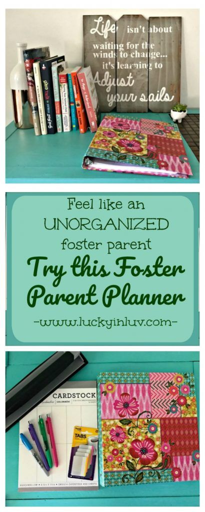 Foster Parent Planner with FREE PRINTABLE for the busy foster parent. Tips and tricks to staying organized.