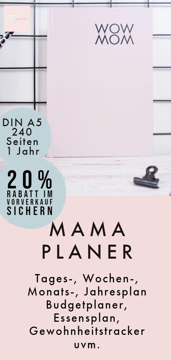 Der Mamaplaner ist da! Organisiere deinen ganzen Familienalltag in einem Planer. Perfekt für Mütter!