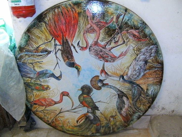 hand painted. for sale. size 40 inches diameter