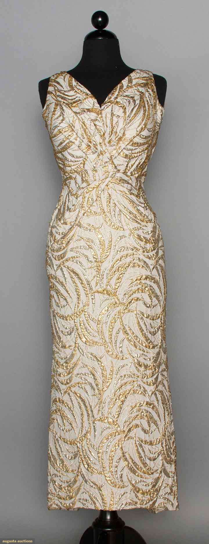 Ceil Chapman Lame Evening Gown, 1950s