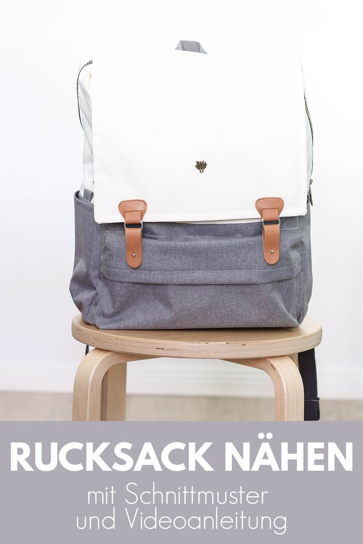Rucksack nähen mit Schnittmuster und Videoanleitung | Rucksack Kukka