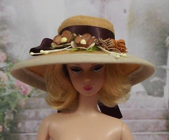 Chapeau Barbie N65 capeline Barbie, chapeau , Fashion Royalty, Silkstone, casquette barbie,bonnet barbie,