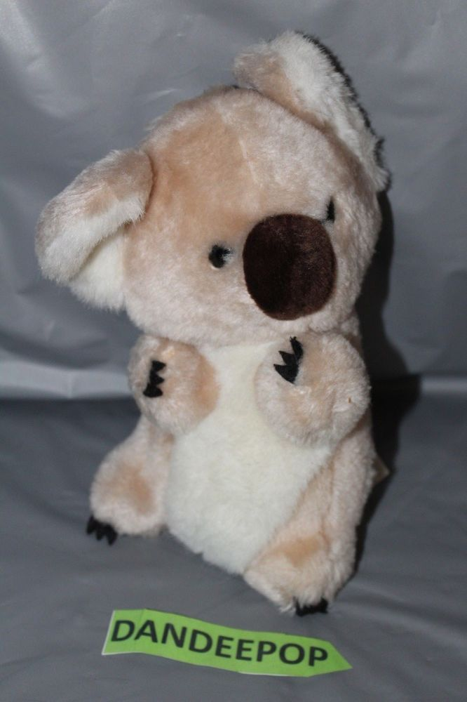 Details About Vintage Mighty Star Sitting Koala Bear Wind Up Music