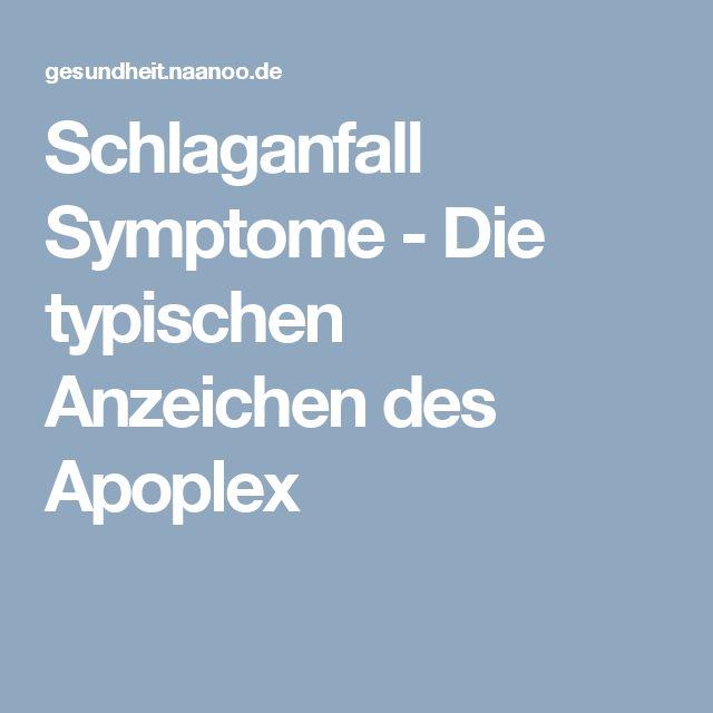 Schlaganfall Symptome - Die typischen Anzeichen des Apoplex