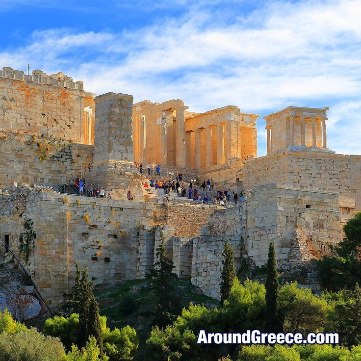 The entrance to the Parthenon on the Acropolis. The main structure is the Propylaea while the Temple of Athena Nike can be seen on the right.  #Athens #Acropolis #Greece #Parthenon #holidays #travel #vacations #tourism #history #ancientgreece #greek #archaeology #Αθηνα #Ελλαδα #ιστορια #Ακροπολις