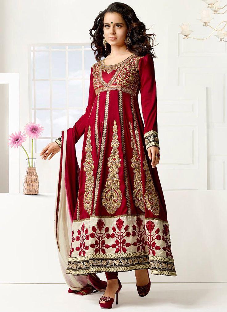 Indian Salwar Kameez Bollywood Designer Anarkali Pakistani Salwar Kameez Kangana Ranaut Red Velvet Salwar Kameez Suit Ethnic Salwar Kameez by JTInternational on Etsy https://www.etsy.com/listing/191748804/indian-salwar-kameez-bollywood-designer