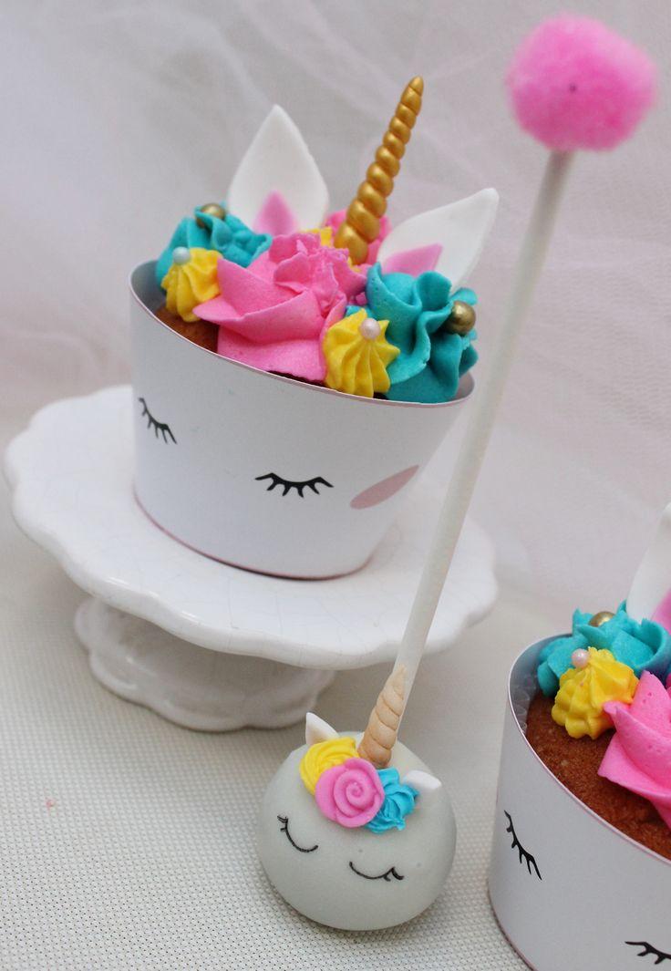 Unicorn Rainbow Cupcakes  Violeta Glace