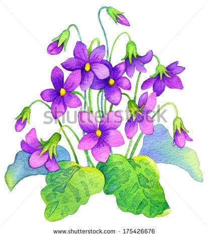 violets clip art - Google Search   Wild Violets ...