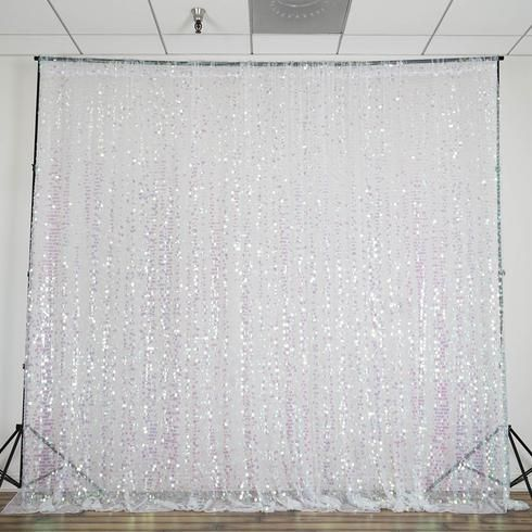 20ft Rainbow Big Payette Sequin Curtain Panel Backdrop Wedding