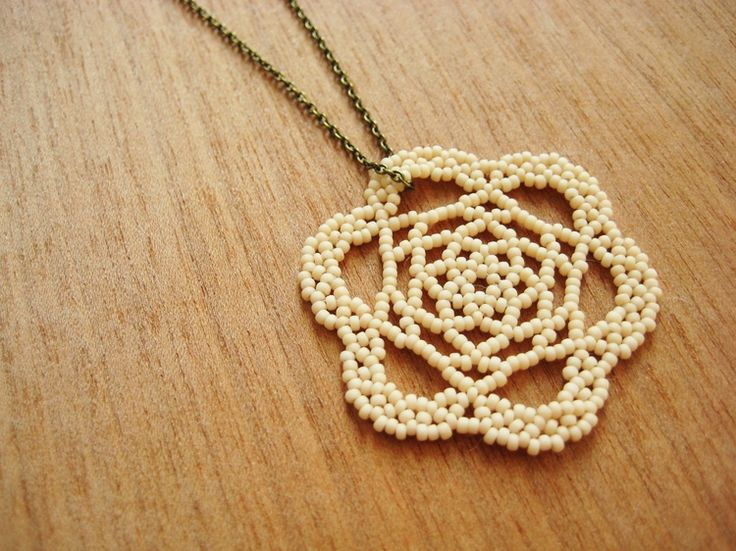 How To Make A Beaded LaceMedallion - excellent photo tutorial, easier than it looks   . . . .   ღTrish W ~ http://www.pinterest.com/trishw/  . . . .   #handmade #jewelry #beading
