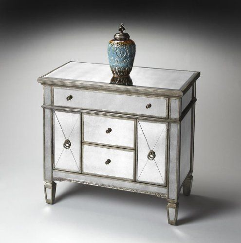 Butler Specialty Mirror Console Cabinet - 1264146 by Butler Specialty. $1129.00. Style: Traditional.. LGirth: 159.. Finish: Mirror.. Volume: 18.87 cu ft.. Width: 30.. Mirror Console Cabinet - 1264146 Since 1930, Butler Specialty Company has furnished America's homes with fine lines of occasional and accent furniture. Founded during one of the bleakest eras in our nation's history, the Great Depression, Butler not only survived - but thrived because of its commitmen...