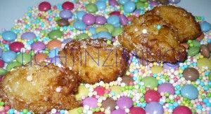 """""""Frittelle"""" - fried sweets with rice- typical of Carnival"""