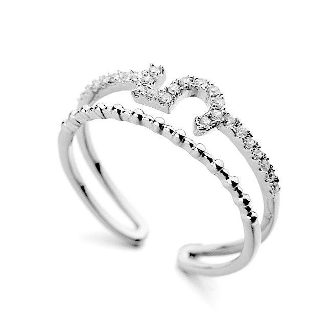 Бижутерии 2015 двойное кольцо с лаки пять современный дизайн кольцо AAA циркон женщины кольцо-Ювелирные изделия из цинкового сплава-ID товара::60360571186-russian.alibaba.com
