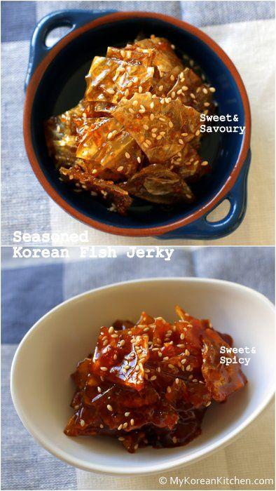 Seasoned Korean FileFish Jerky (Jwipo Jorim) ***