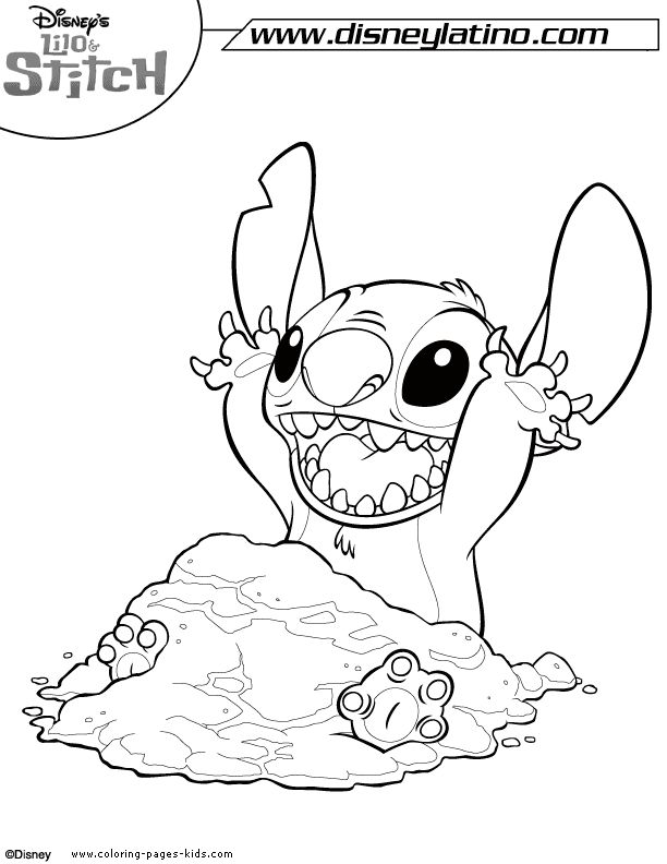 Lilo And Stitch Coloring Pages Disney For Kids Thousands Of Free Printable