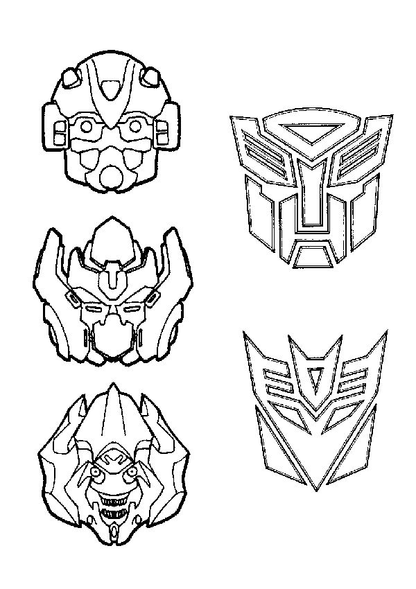 Free printable Transformer Coloring Pages- just print a whole bunch and put on a table w crayons, stickers, paint, glitter, foam thingies